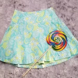 Lilly Pulitzer Girls Skirt 10 Seahorse Daisy